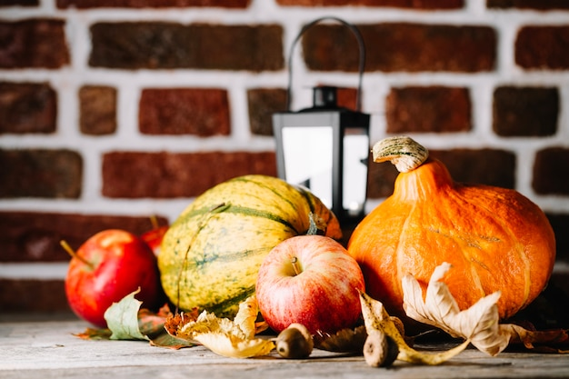 Rustic composition of autumnal harvest