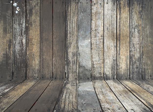 Rustic dark wooden texture background Premium Photo