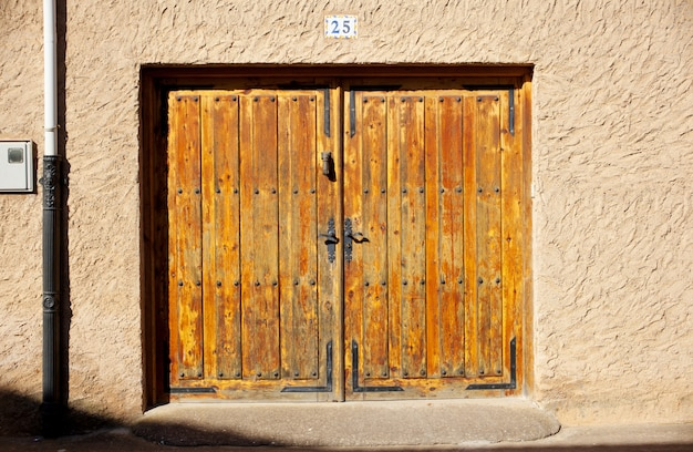 Rustic door in a little village in spain