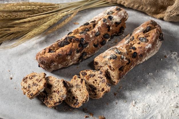 Rustic raisin bread
