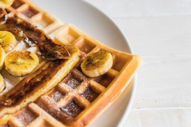 Rustic sweet banana waffle