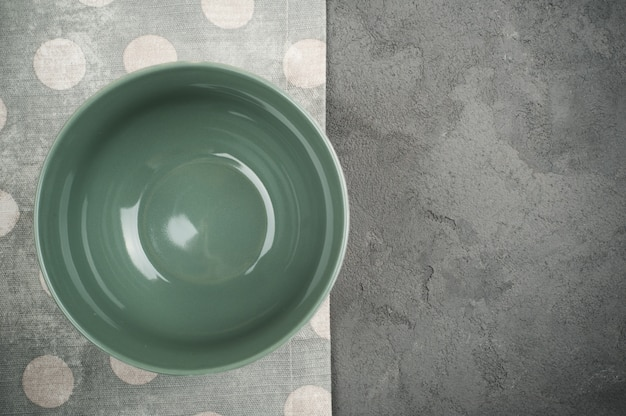 Rustic table setting with empty plate