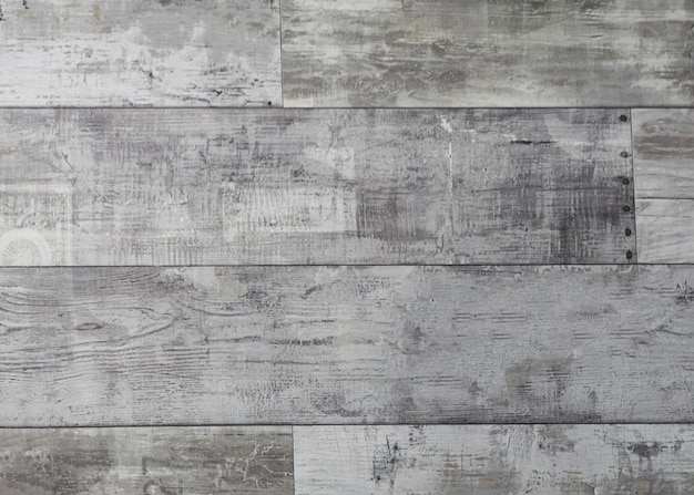 Rustic weathered wood surface with long boards lined up
