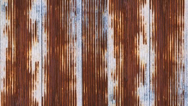 Rusting metal fencing or siding