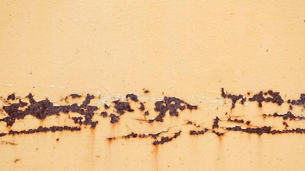 Ржавая и поцарапанная стальная текстура в желтых тонах