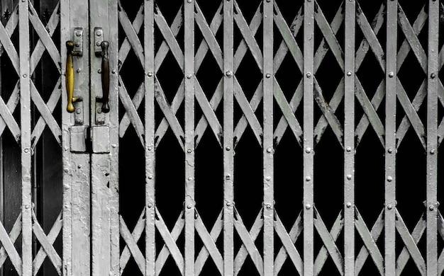 Rusty antique slide steel door