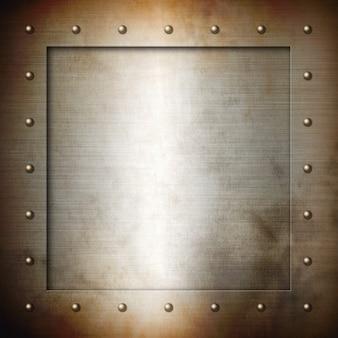 Rusty brushed steel frame
