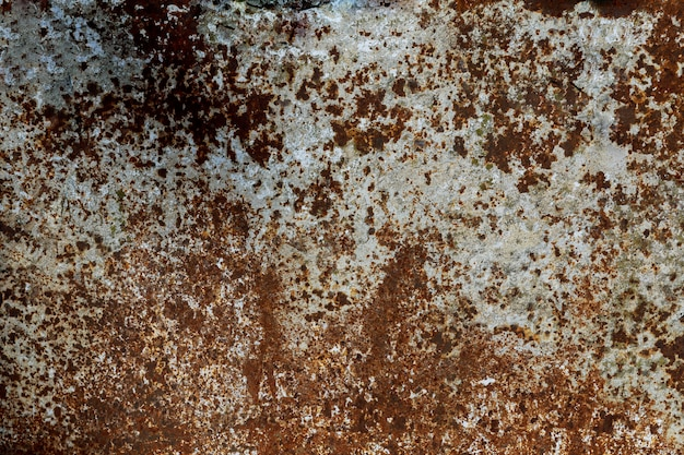 Rusty and damaged metal background multicolored background: rusty metal surface