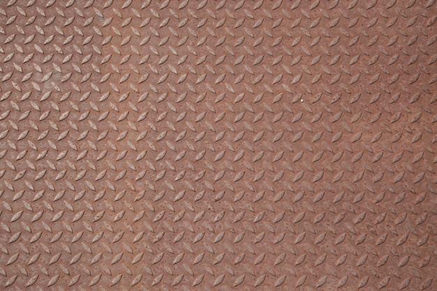 Rusty dimond pattern steel plate background