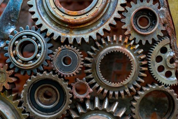 Rusty gears.