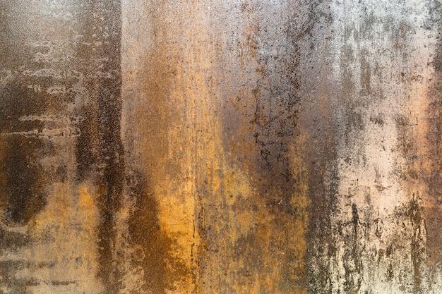 Rusty grunge textured steel plate surface background