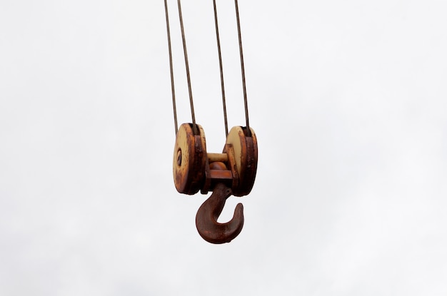 Rusty hook of a crane