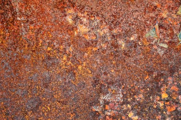 さびの筋のあるさびた金属の背景さび汚れ古い金属のさびた腐食さび