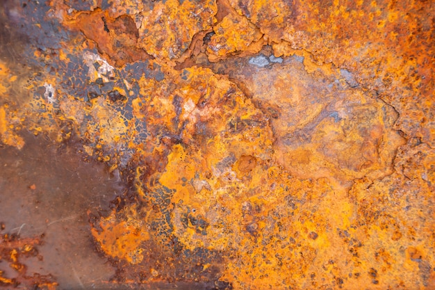 Rusty metal texture background for interior exterior decoration and industrial construction design.