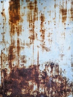 Rusty metal wall texture.