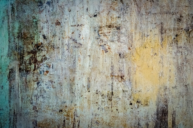 Rusty metallic steel painted texture as background
