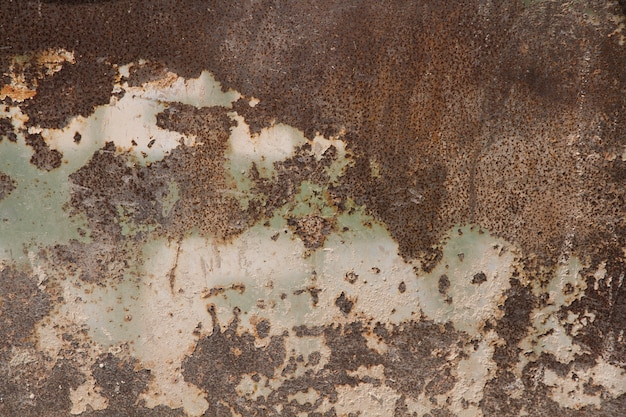 Rusty old metal wall