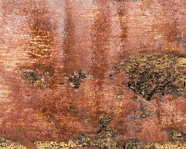 Rusty and scratched brown steel texture