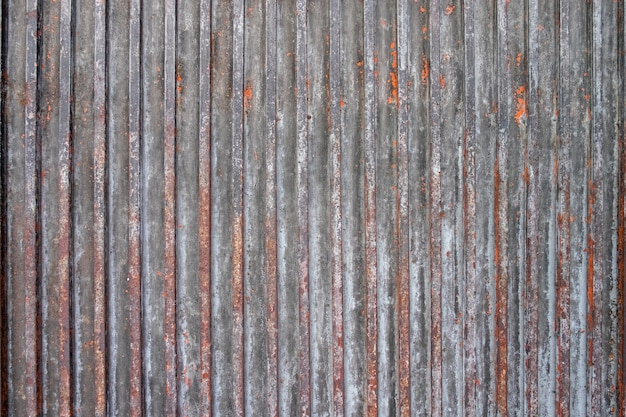 Rusty sheet of corrugated metal wall textured