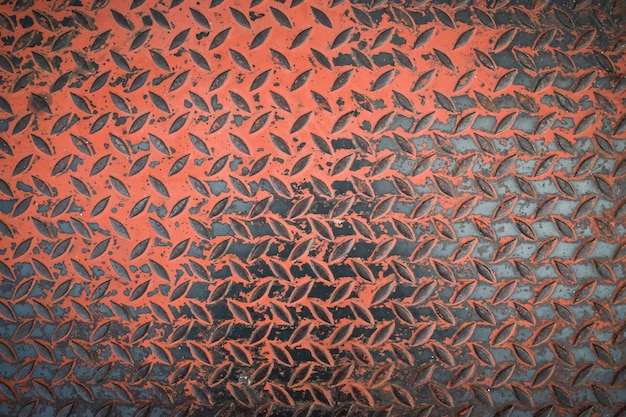 Rusty steel plate texture background. background of metal diamond plate in grungy.