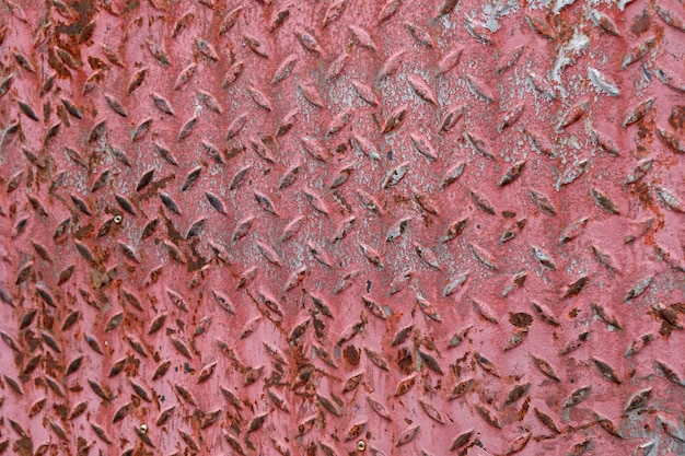 Rusty texture of red metal spatula