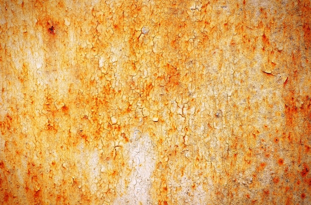 Rusty textured metal background. cracked rusty metal wall. background for design