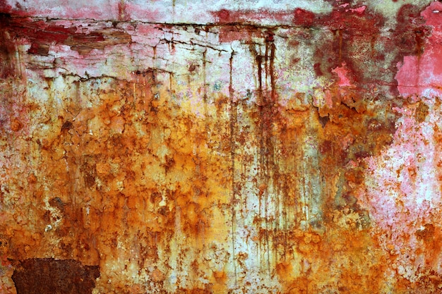 Rusty weathered painted iron aged metal