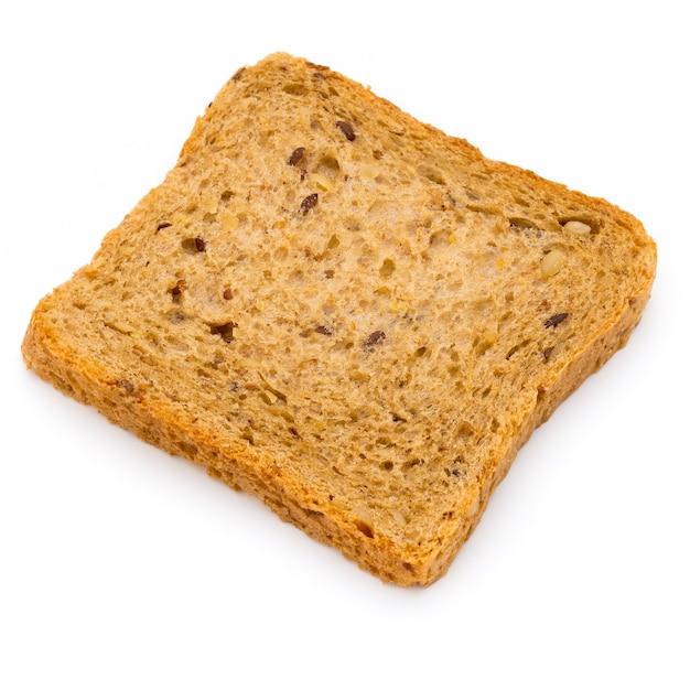 Ломтик ржаного хлеба на белом