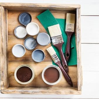 ブラシ付き木箱の改修の準備、s