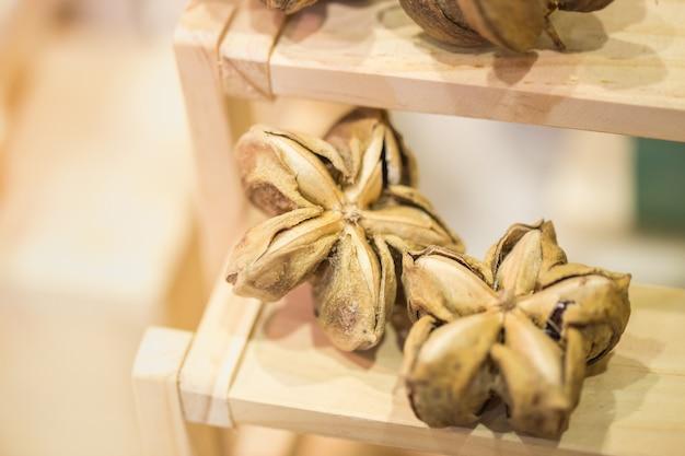 Sacha peanut or sacha-inchi peanut herb nut dried