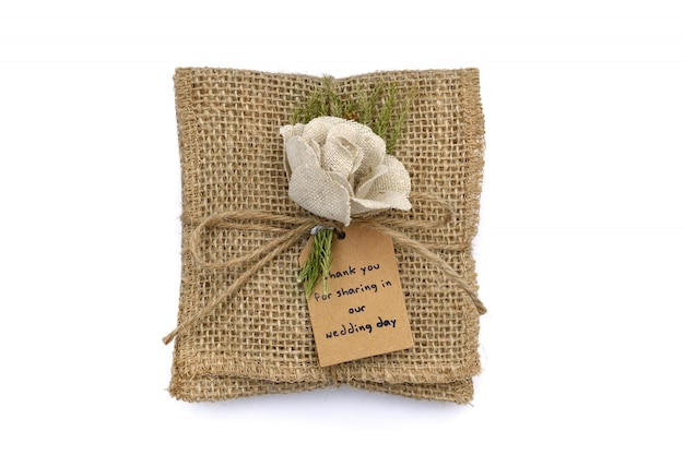 Sack bag for contain souvenirs in wedding