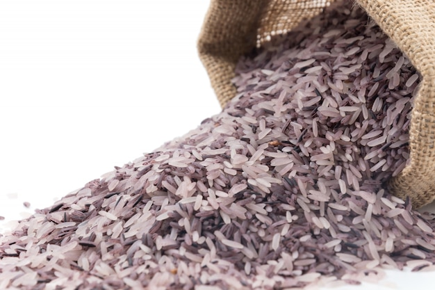 Sack with berry rice