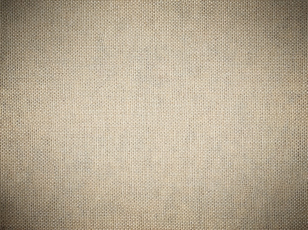 Sackcloth texture background with a dark vignette.