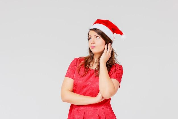 Грустно тело положительные съемки красивая брюнетка девушка в красном платье