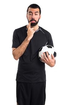 Грустный футболист