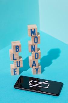 Concetto di lunedì blu di saddnes