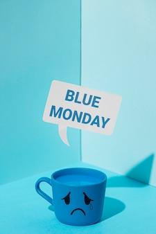 Concetto di tristezza lunedì blu
