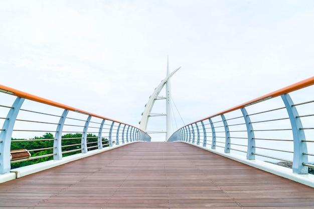 Saeyeongyo bridge between seaseom and seogwipo port in jeju island