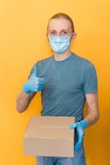 食料品の安全な配達、宅配便、コロナウイルス検疫