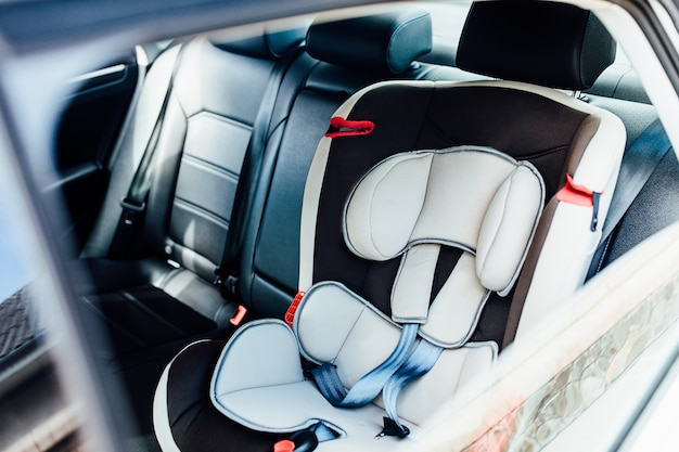 Safety armchair for baby in the car. kid, comfortable.