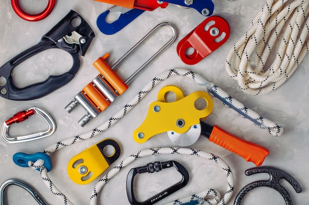 Safety equipment using in alpinism on concrete