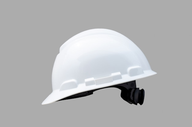 Safety hardhat isolated on gray background