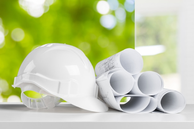 Safety helmet and architect working table