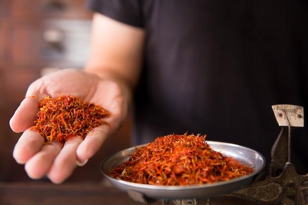 Safflower herbal in herb store