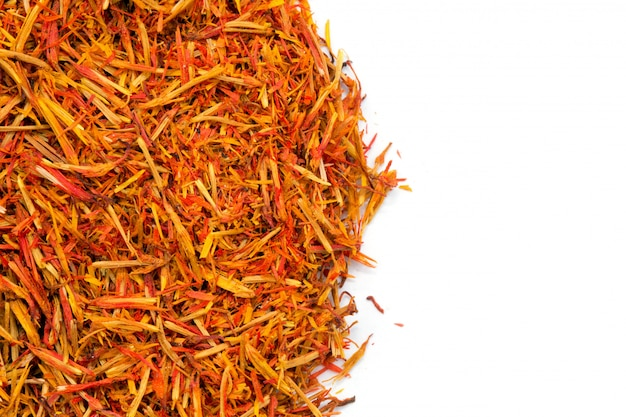 Saffron spice isolated with copyspace