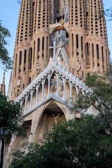 Sagrada familia cathedral in barcelona in spain. 16.11.2019