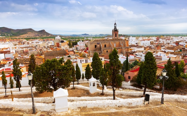 Sagunto in summer. valencian community