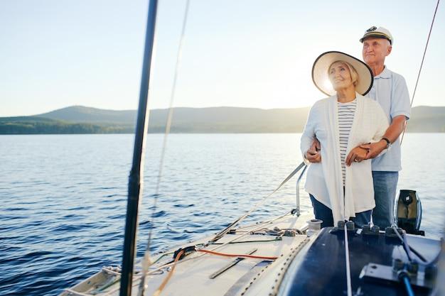 Sailing on yacht