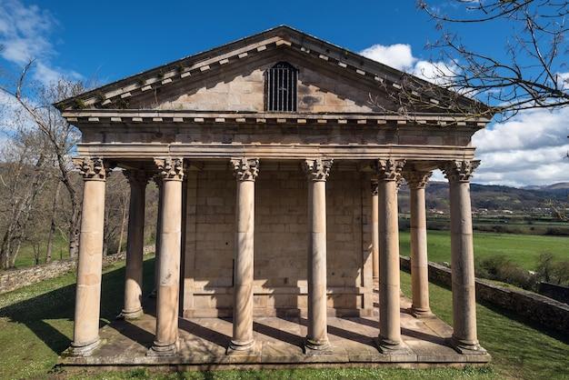 Sain george old neoclassic church in cantabria, spain.