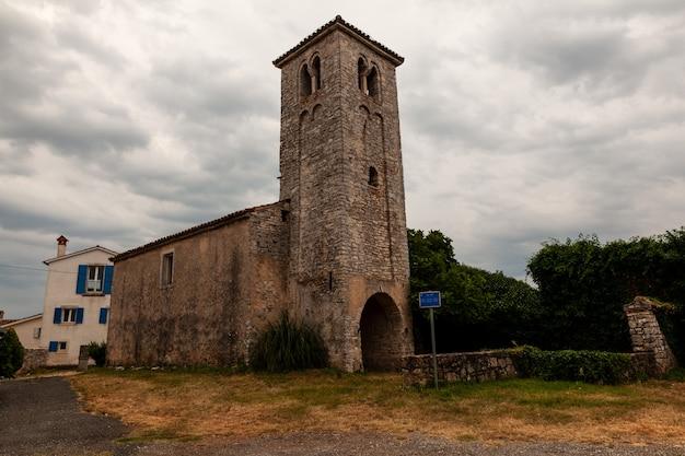 Saint elias church in bale, villa, istria. croatia